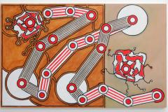 Allard-Budding-Zonder-Titel-73x116cm-Houtskool-en-acrylverf-op-canvas